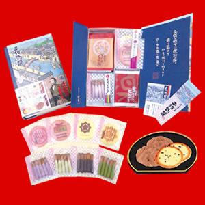 「土佐の楽市本舗」では、鰹節でだしをとった生姜のおせんべい「土佐物語」を中心に販売しています。
