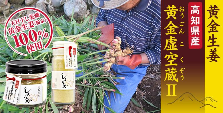 高知県産 黄金虚空蔵Ⅱを使用した乾燥生姜粉末「土佐の黄金生姜こくぞう君」